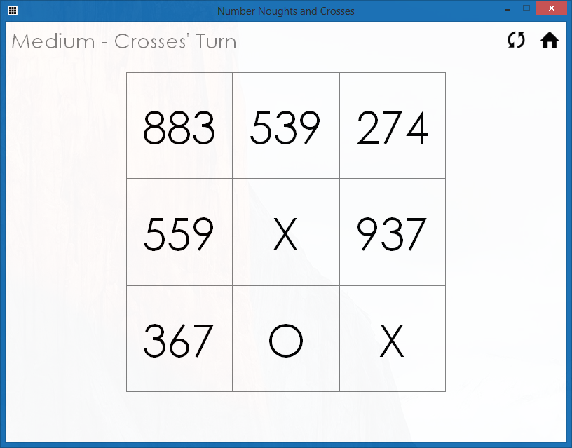 Number Noughts and Crosses